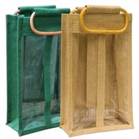 Jute 2 Bottle Bag