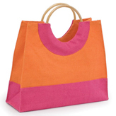 Cane Handle Jute Shopping Bags