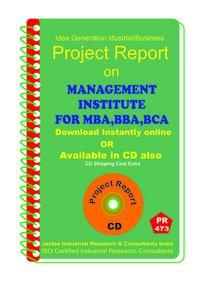 Management Institute for MBA, BBA,BCA Establishment eBook