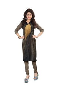 Brown summer style Digital print american crape kurti