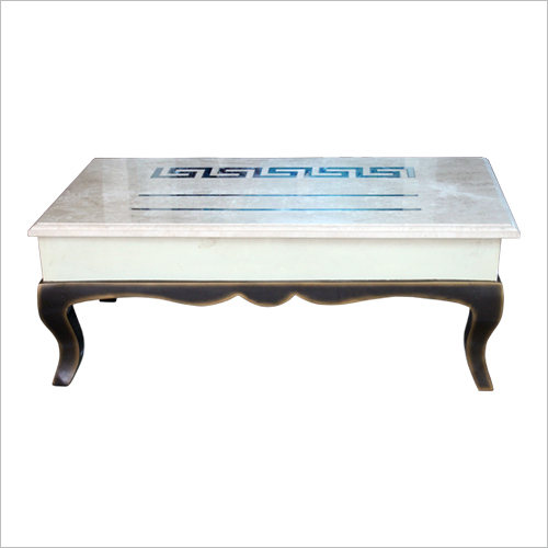 Marble Top Wooden Base Centre Table