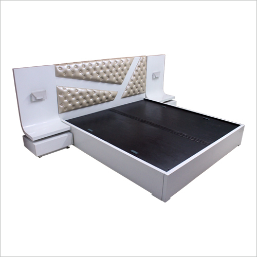 Stylish Double Bed White High Gloss