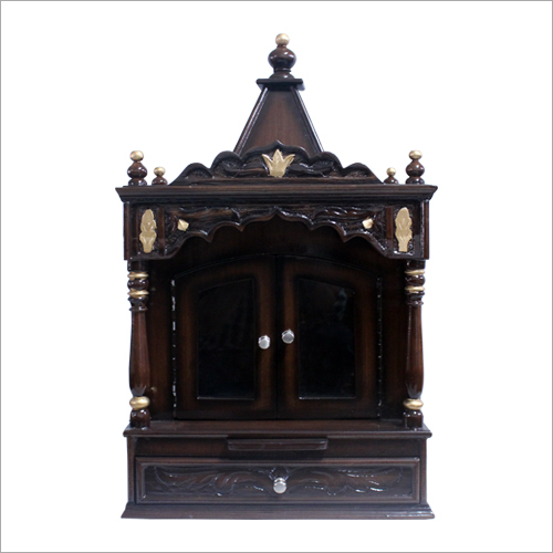 Wall Hanging Wooden Temple With Door