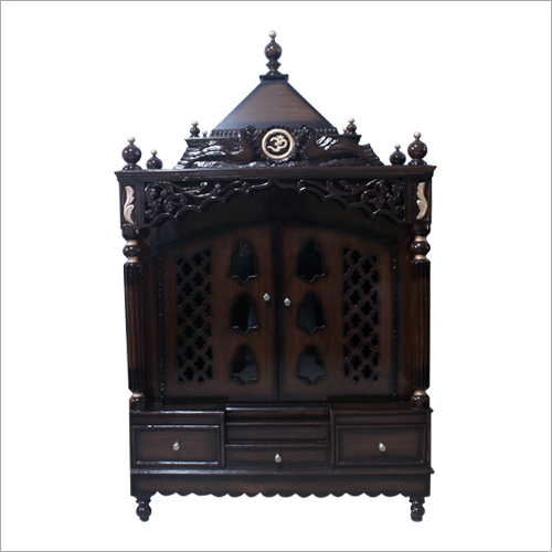 Carved Designer Wooden Temple