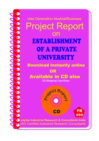 Establishment of a Private University manufacturing eBook