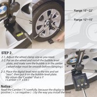 FIT TOOLS Portable Wheel Alignment Angle Sensing Tool with Digital Protractor