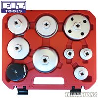 FIT TOOLS 9 PCS 3/8 in.Dr Forged Oil Filter Wrench Set