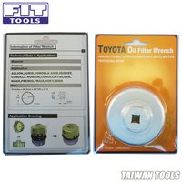 FIT TOOLS Cap-Type Toyota Oil Filter Wrench Compatible 4 Cylinder Made in Taiwan
