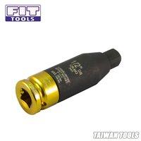 1/2 inch CR-MO COLOR Deep Sockets 3 PCS(17,19,21mm)+H.D.T. Torsion Impact Adapter