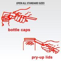 6 in 1 Jar Cover Lid & Bottle Cap & Drink Tab & Screw Caps Opener