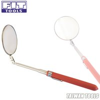 FIT TOOL Extendable Dia 80mm Round Telescopic Inspection Mirror