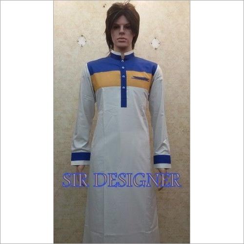 White Lined Saudi Arabian Jubba Thobe