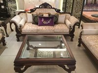 Glass Top Centre Table With Sofa Set