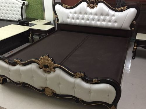 Carved Double Bed