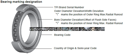 TPI ANGULAR CONTACT BEARING