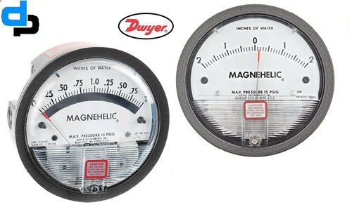 Dwyer USA Magnehelic Gauges .05-0-.2 Inch WC