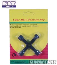 FIT TOOLS 4 Way Multi Function Utility Key
