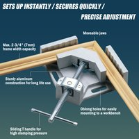 FIT TOOLS 90 Degree Corner Clamp for Wood working or Metal Right Angle Frame Vice