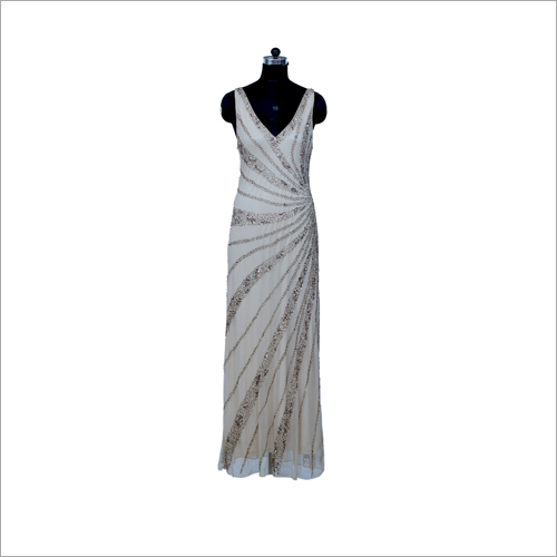 Ladies V-Neck Long Dress
