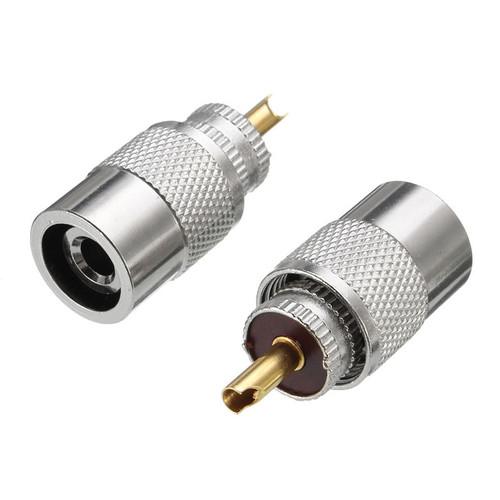Brass UHF plug twist on type RG58