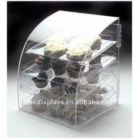 4 Tier Clear Acrylic Bakery Display Case