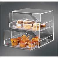 Bak2231 Bak 400 Acrylic Bakery Displapy 2 Compartments Food