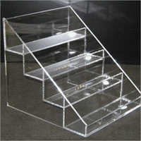 Acrylic clear four tier table top bottle beer display holder spice rack