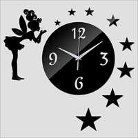 Acrylic Wall Clock Europe Design Luxury Mirror Watch Clocks 3d Crystal