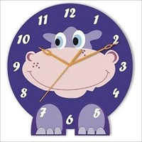 acrylic wall clocks hippopotamus clock