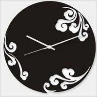 high level acrylic art contemporary wall clocks