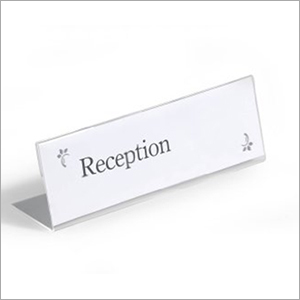 Acrylic conference name plate L type