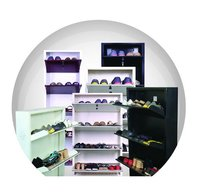 Wall Mounted Shoe Rack 4 Shelves