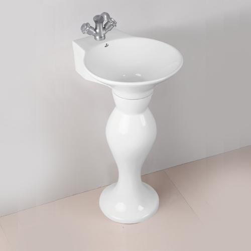 White Wash Basin with Pedestal