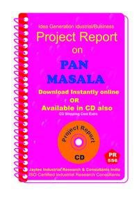 Pan Masala Manufacturing Project Report eBook
