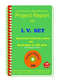 I.V.Set manufacturing Project Report eBook
