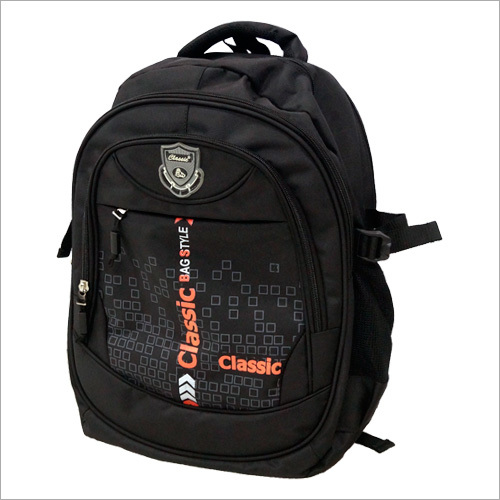 Black Printed School Bag