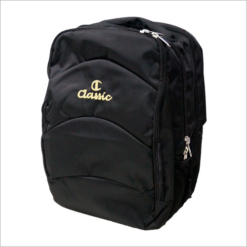 Kids Black Plain School Bag