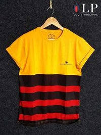Yellow Color Desinged Black T-Shirts