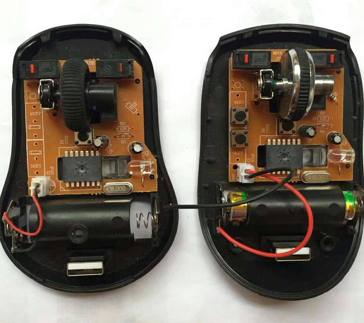 Wireless Mouse IC Optical sensor Ms8310 With Receiver Dip14l 3-6 Buttons Cpi  1200(Default)/1600/800 No Need Rf Transmitter