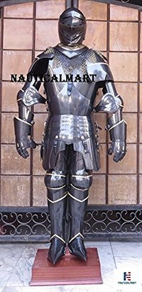 NAUTICAL MART Larp Armour Medieval Knight Sca Full Suit Of Armor collectible Armour Costume