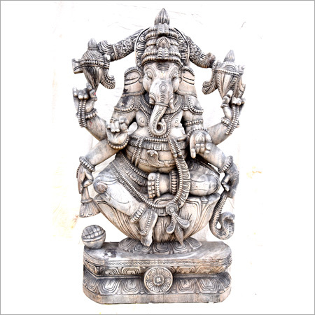 Wooden  Six Hand Ganesh