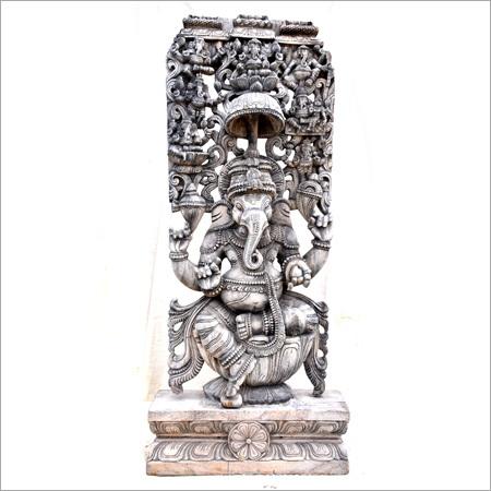 Metal Sitting Ganesha Statue
