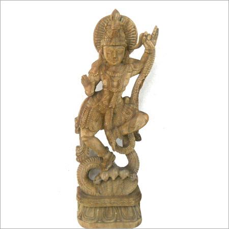 Wooden Kalinga Krishna Statue