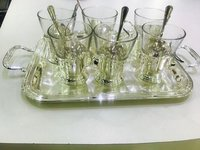 Six Glass With Tray Set Corporate Gift