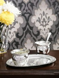 Silver Plate With Two Bowl Corporate Gift
