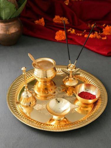 Gold Plated Pooja Thali
