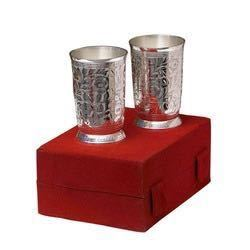 Silver Plated Corporate Gift Glass Set