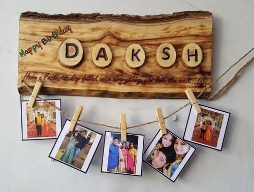 Wooden Personalised photo collage