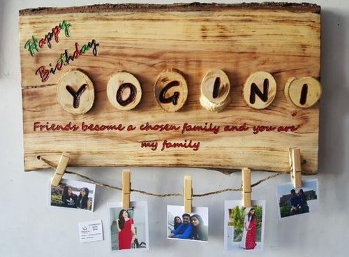 Personalized Wooden photo collage