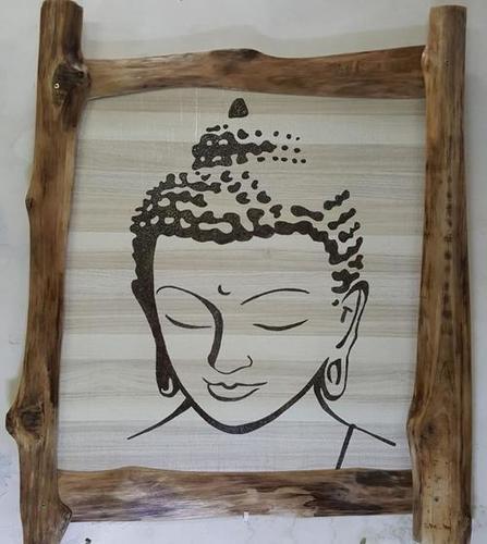 Wooden Decorative Buddha Wall Hanging